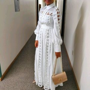 Gorgeous white studded maxi dress